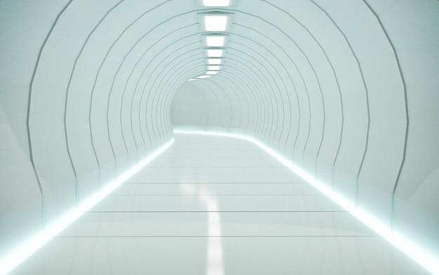 Путь трения науки или железнодорожный туннель, рендеринг 3d иллюстраций