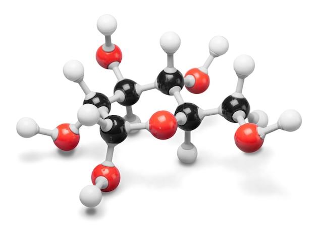 배경에 과학 분자 dna 모델 구조