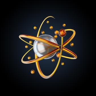 분자와 원자가있는 과학 또는 의학 배경
