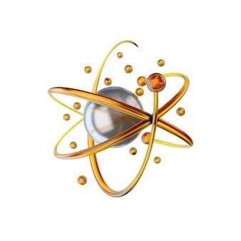 분자와 원자가있는 과학 또는 의학 배경 프리미엄 사진