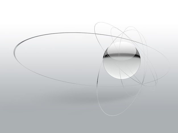 Science simple background with an abstract atom