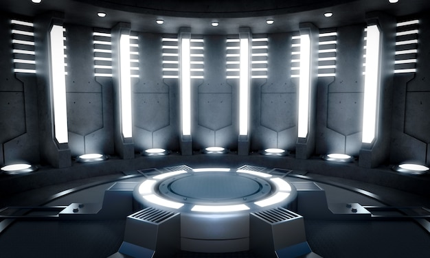 Science and technology space with light effect scene