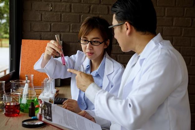 Scientist test chimcal liquid in lab