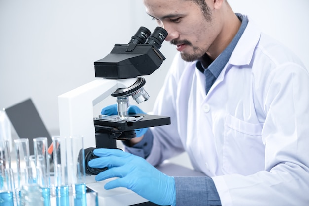 Scientists are using microscopes