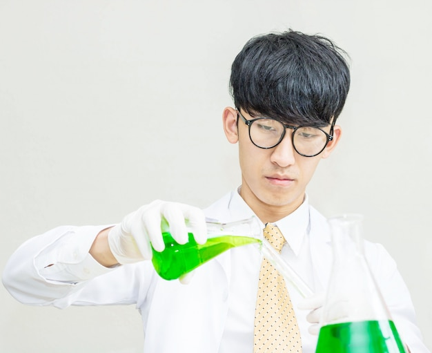Scientists experiment with green compounds.