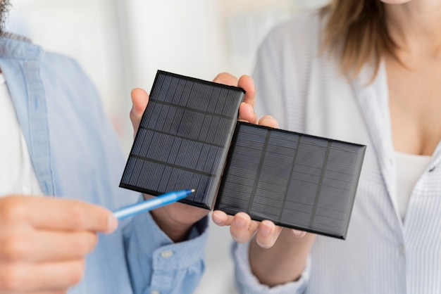 Scientists working on power saving solutions together