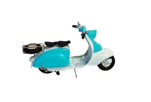 Scooter motorbike isolated