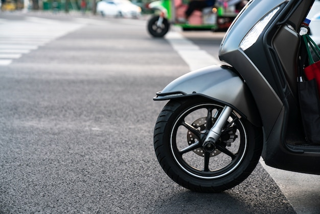 Scooter side view