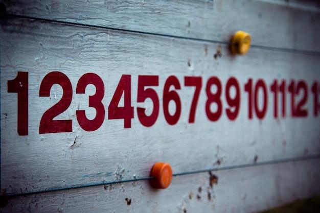 The score board of petanque vintage