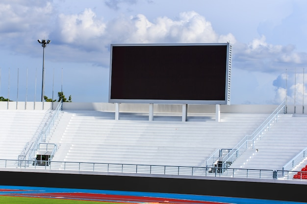 Scoreboard screen in stadium