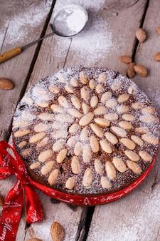 Scottish dundee cake, christmas fruitcake,