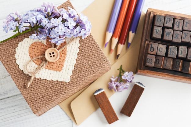 스크랩북 diy 장식, 우표, 선물 상자