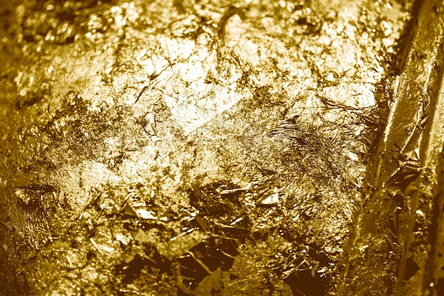 金箔のテクスチャ背景のスクラップ
