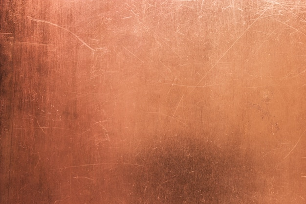 Scratched copper surface
