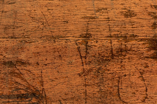 Scratched wooden surface