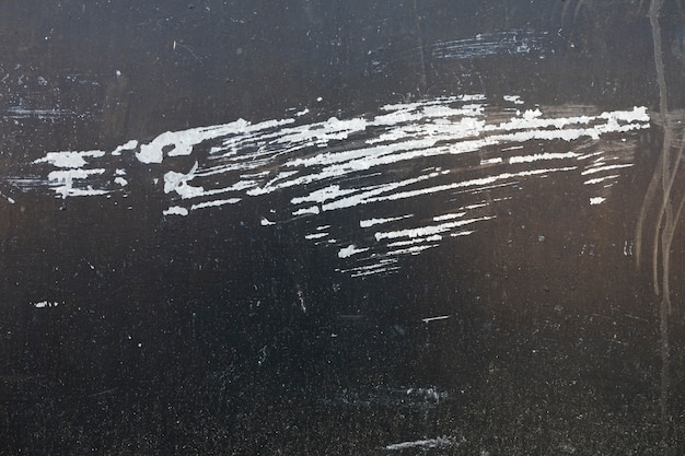Scratches on painted metal