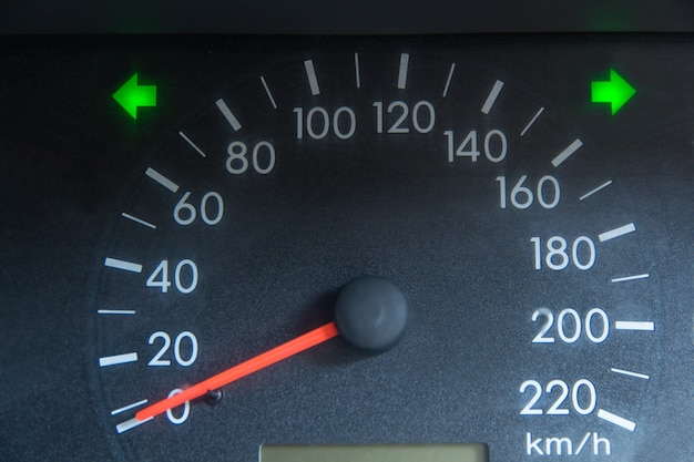 Screen display of car status warning light on dashboard panel show the fault indicators