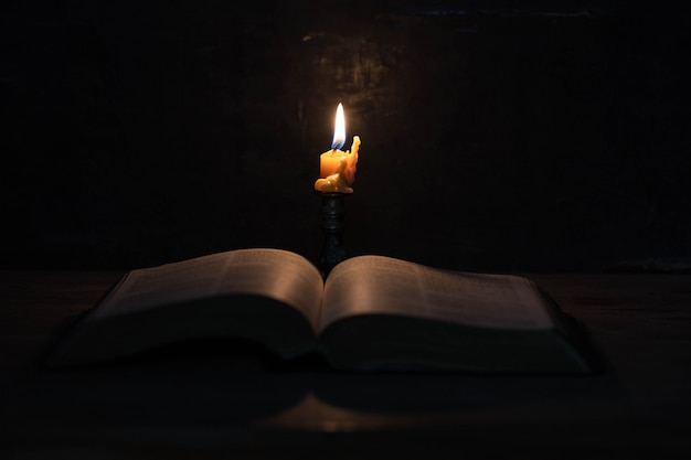 Scripture with candles