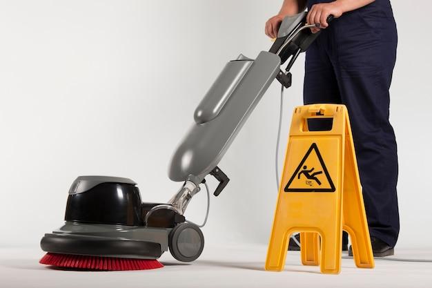 床を掃除するためのスクラバー機