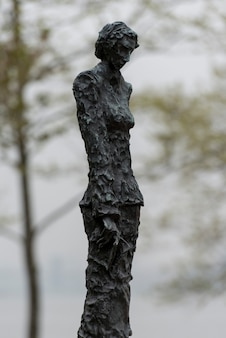 Sculpture by phillip ratner, liberty island, manhattan, new york city, new york state, usa