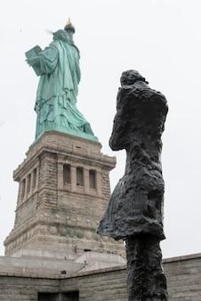Sculpture by phillip ratner, statue of liberty, liberty island, manhattan, new york city, new york s