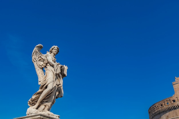 Sculpture on sant angelo bridge in rome