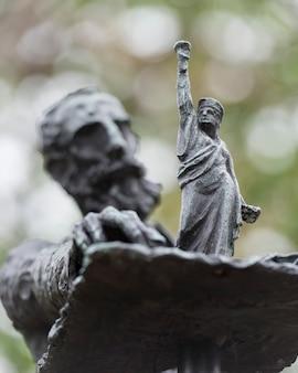 Sculptures by phillip ratner, liberty island, manhattan, new york city, new york state, usa