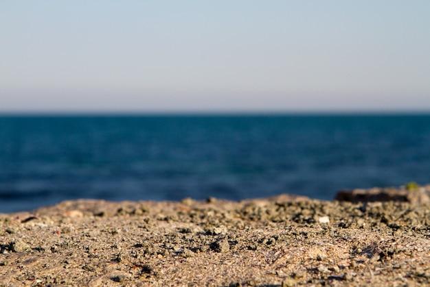 바다와 모래 배경