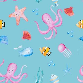 Sea animals pattern