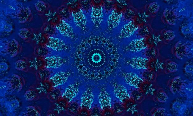 シーブルーシームレス航海イカットパターン。繰り返されるセラミックモザイク。インディゴバナー。白地に無限の青みがかった手描きのイカット。ネイビー水彩デザイン。スカイブルーグランジエスニック。
