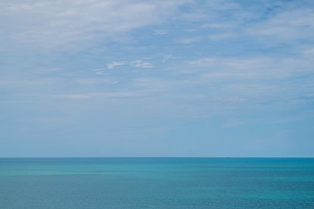 Sea and blue sky background