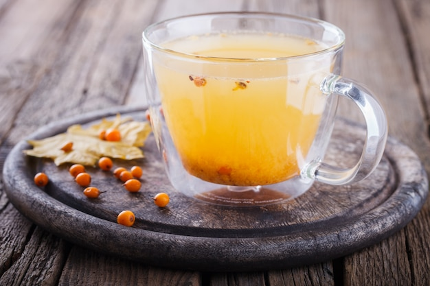 Sea buckthorn tea for health.