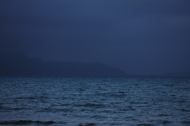 Sea, evening, summer time.