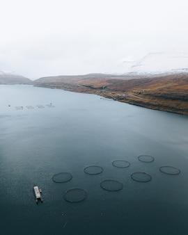 Ферма морских рыб на фарерских островах