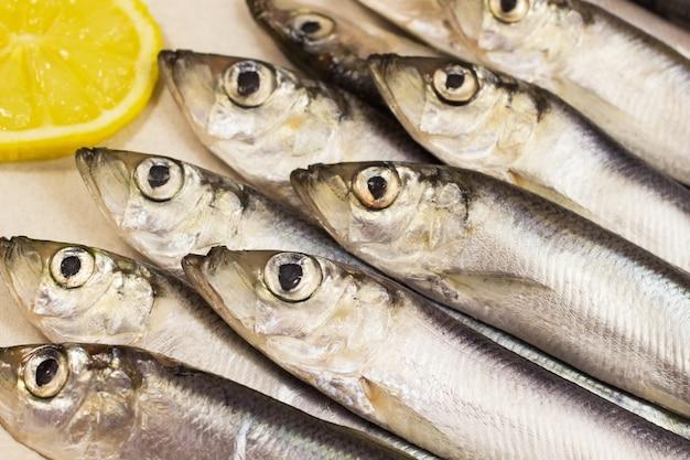 Sea fish - herring and lemon