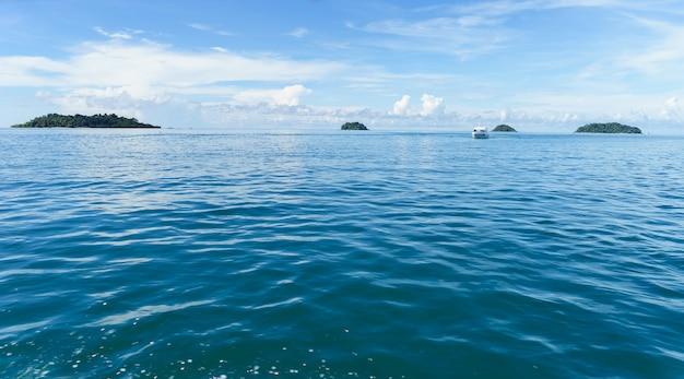 Sea and islands at ko chang, trat province, thailand