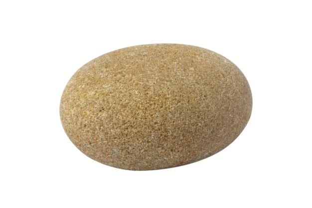 海の小石は白い背景で隔離されます。天然石。高品質の写真