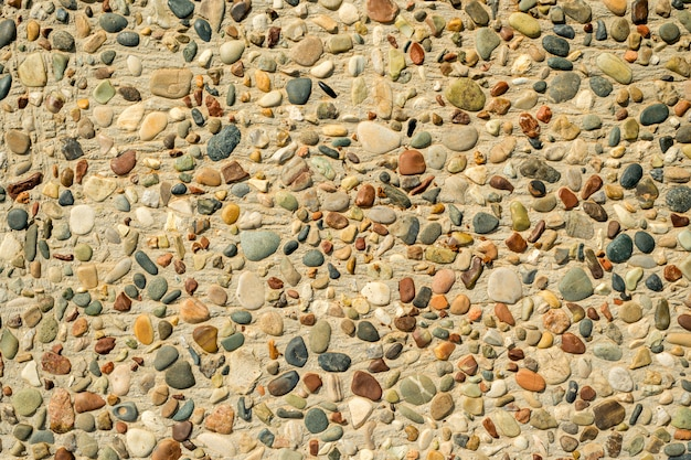 Sea pebbles in the floor