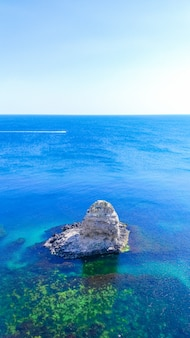 Sea, rocks. summer landscape of the sea.