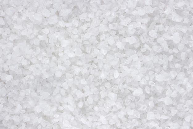 Sea salt closeup top view texture