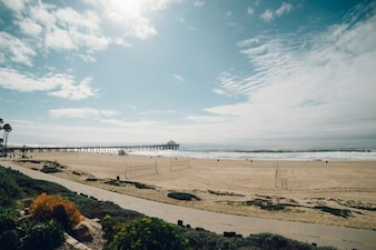 Sea shore horizon landscape