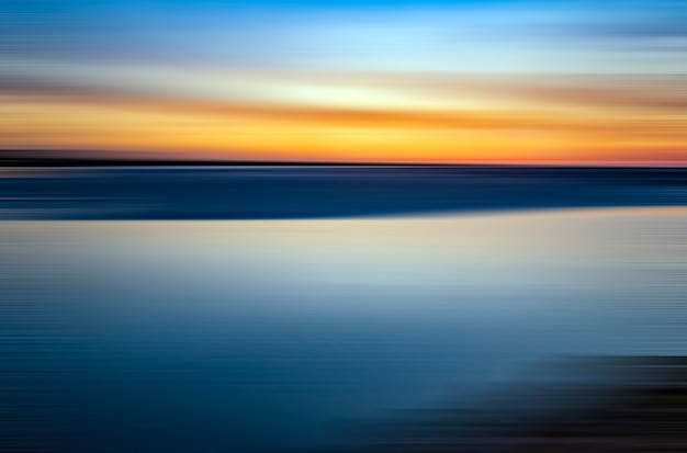 Sea and sky in a sunset with contrasting colours