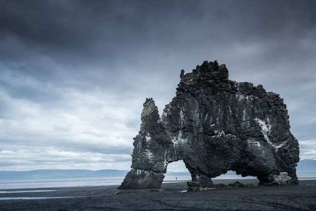 Sea stack in iceland