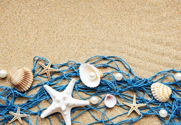 텍스트에 대 한 공간을 가진 바다 여름 휴가 배경
