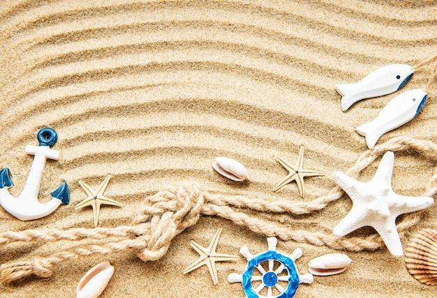 바다 여름 휴가 배경