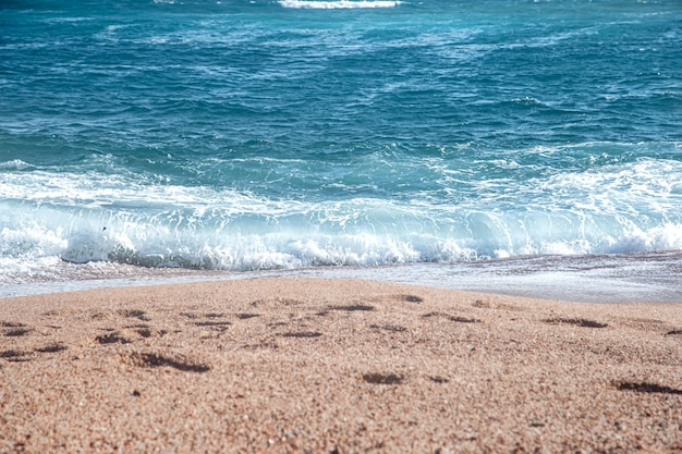 Sea turquoise waves. the concept of tourism.