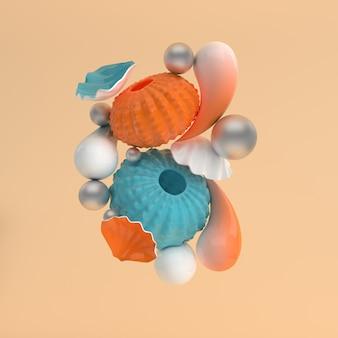 ウニの殻と泡の設定