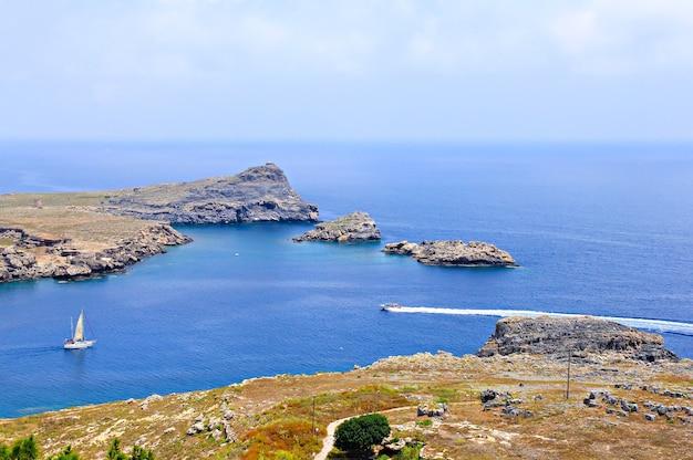 ロードス島リンドスからの海の眺め