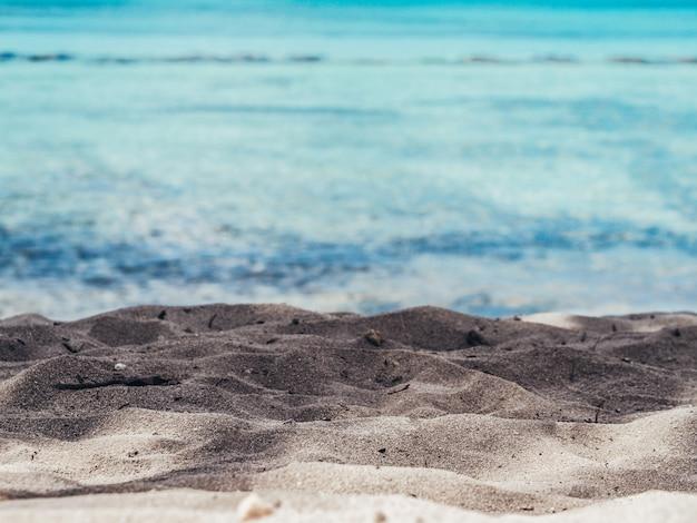 海の眺め。自然旅行の背景。