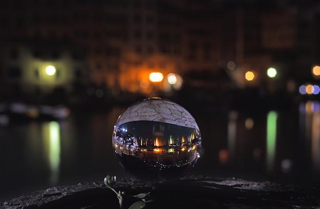 レンズボール写真球の目から見た海の眺め